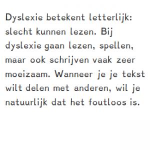 Diensten - dyslexie